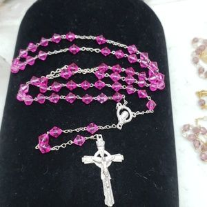 New Magenta pink colored rosary